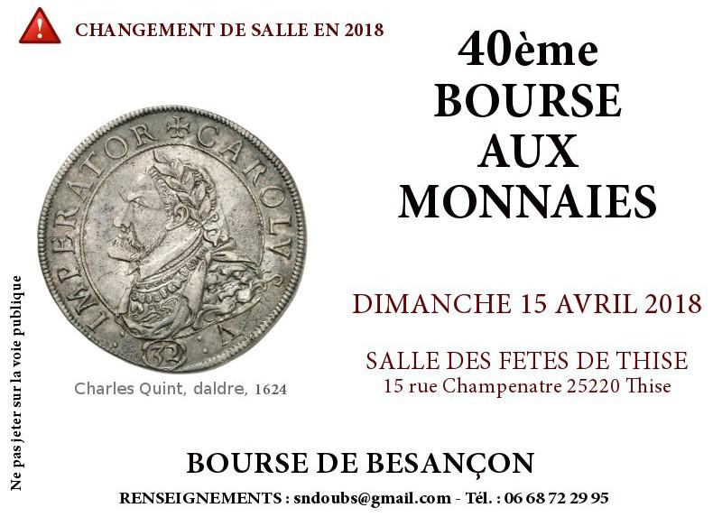 Bourses et salons numismatiques salon numismatique de for Salon de the besancon